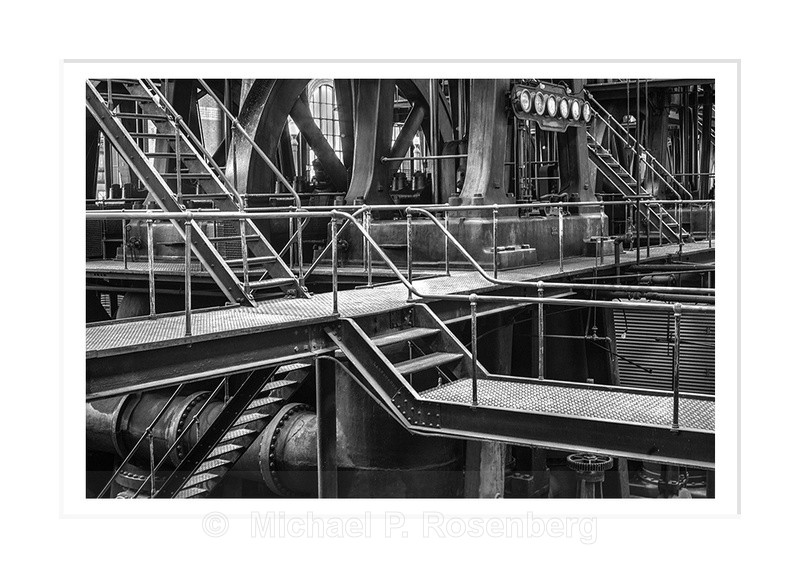 Stairs and Handrails, Ward Pumping Station Buffalo NY - Architecture