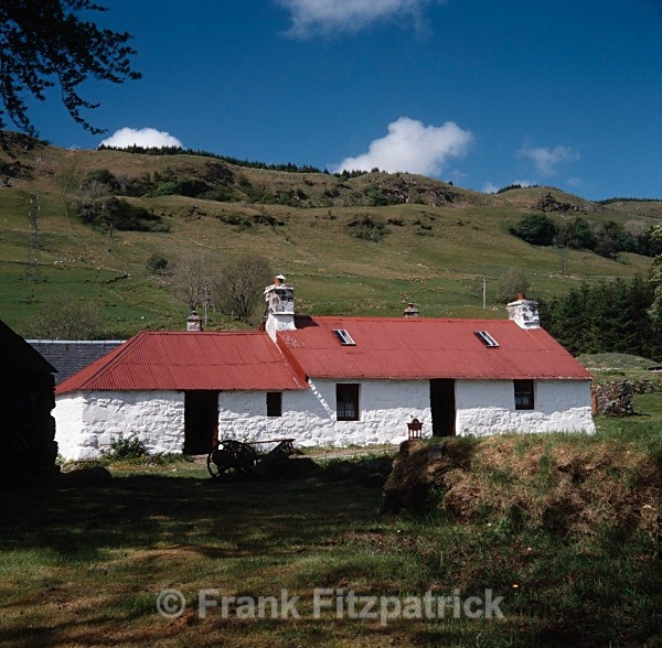 Cottars house, Auchindrain crofting museum, Inveraray - Highland