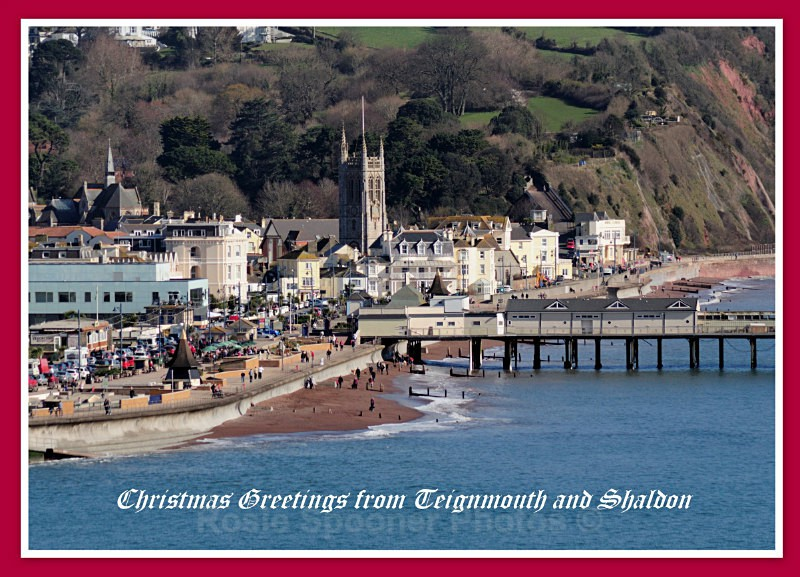 TS36 - Xmas Card Teignmouth viewed from the pier - Greetings Cards Teignmouth and Shaldon