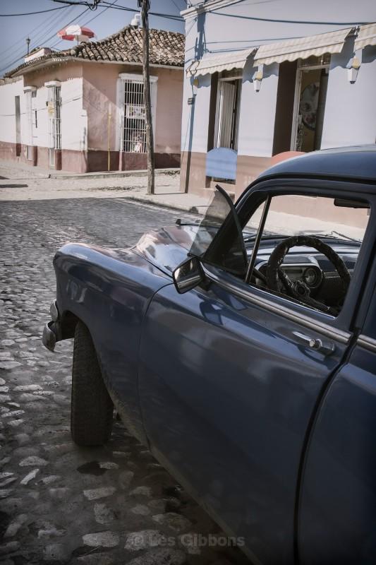 Trinidad blue car - Cuba