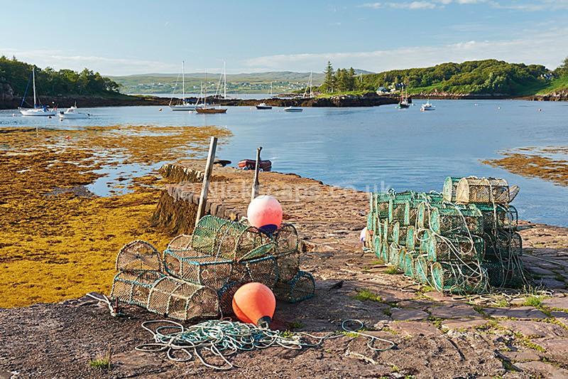 Lobster Pots - Badachro Jetty - Loch Gairloch - Scottish Highlands - Scotland