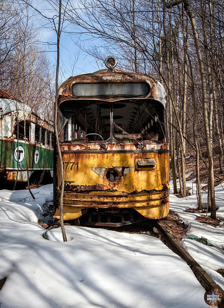 Trolley Graveyard | 1947 Yellow St Louis PCC PA Transit Car - The Trolley Graveyard