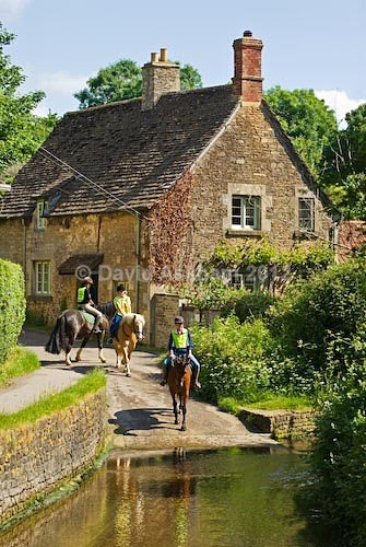 Horse riders in Lacock - Travel & Landscape