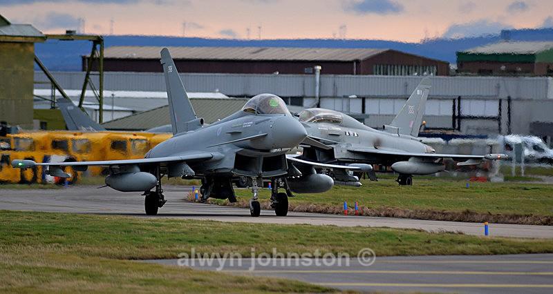 TYPHOON 9 - RAF LOSSIEMOUTH VISIT NOV 2017