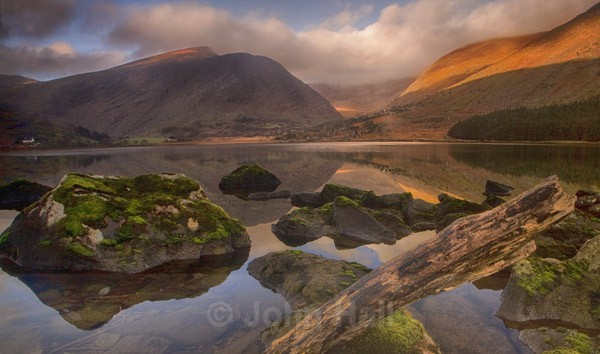 Sunrise On Macgillycuddy's Reeks From The Black Valley, Co. Kerry, Ireland.