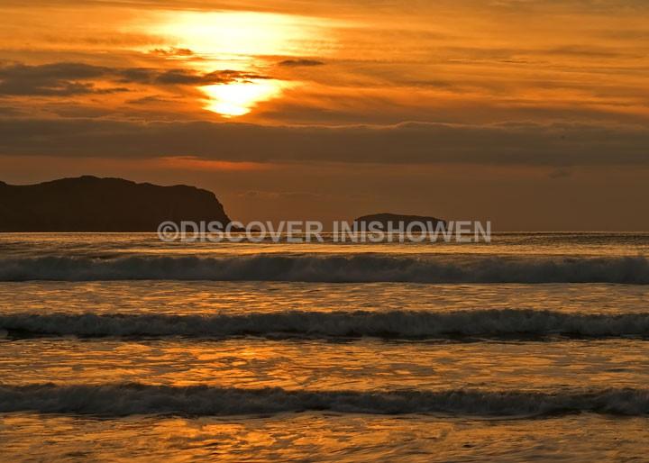 Sunset, Glashedy Island - Inishowen peninsula