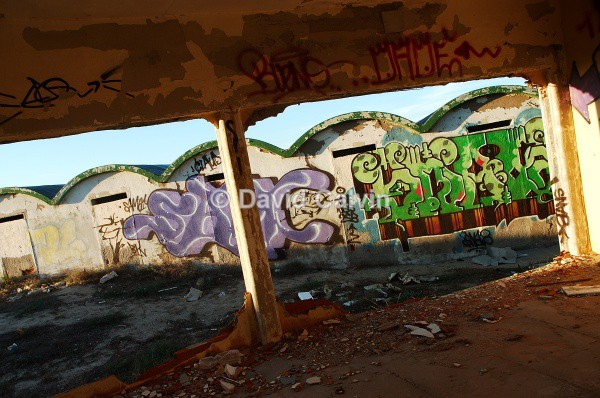 Graffitied Huts - Dereliction