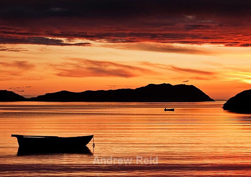 Sunset at shieldaig - Applecross