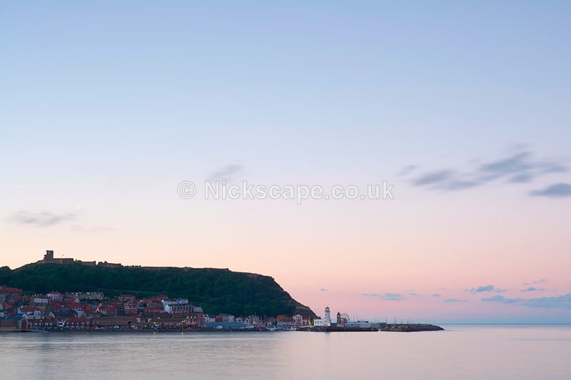 Scarborough Harbour at Sunset - South Bay - Yorkshire Coast - Yorkshire