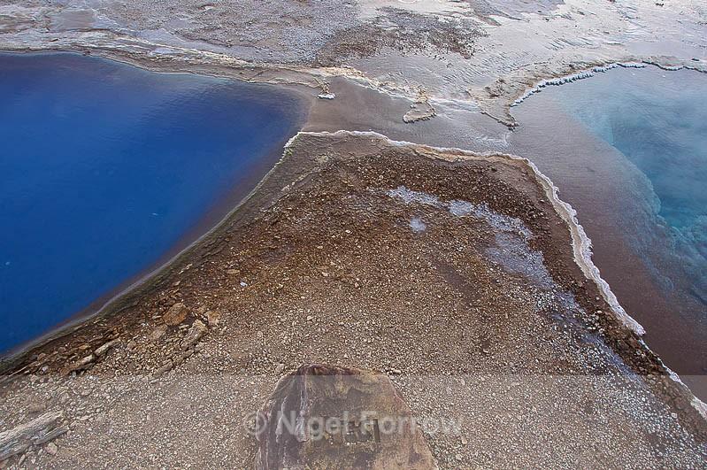 Hot water pools (Blesi) at Geysir - Iceland