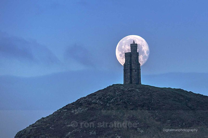 Moon behind Milners Tower - Latest additions