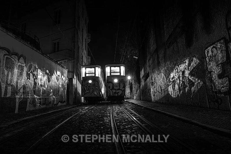 Trams Lisbon Portugal - Industrial /urban