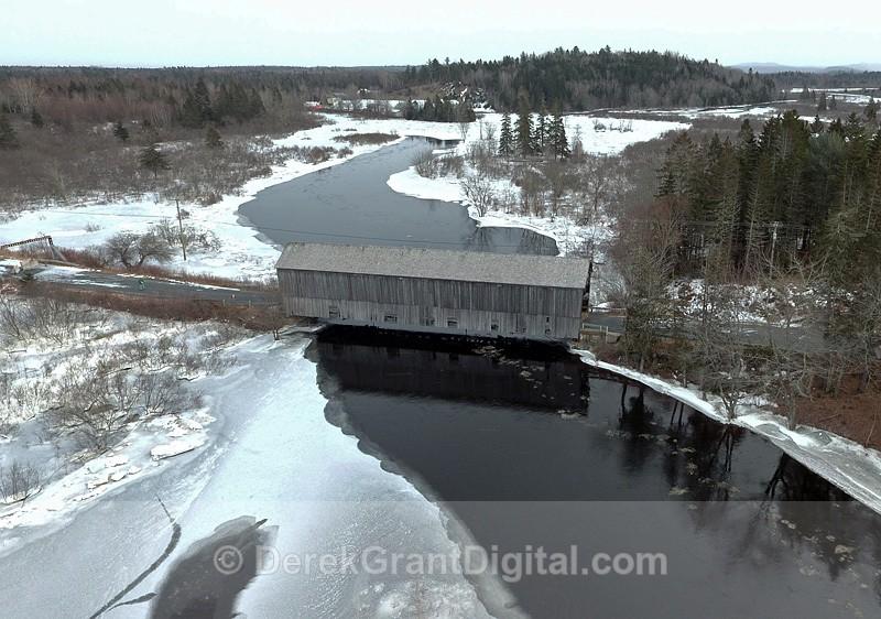 Digdeguash Covered Bridge #3 McGuire Bridge Elmsville NB Canada - Covered Bridges of New Brunswick