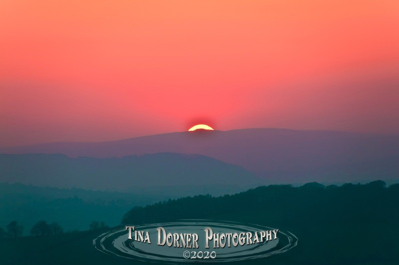 Sunset From Ruardean Hill by Tina Dorner Photography, Forest of Dean and Wye Valley, Gloucestershire