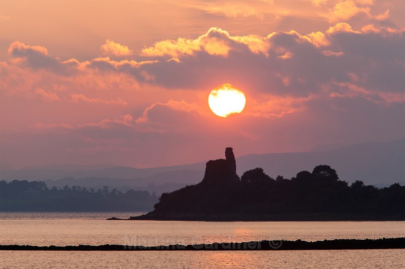 Inch Castle Sunset (Pink) - Ireland by Day