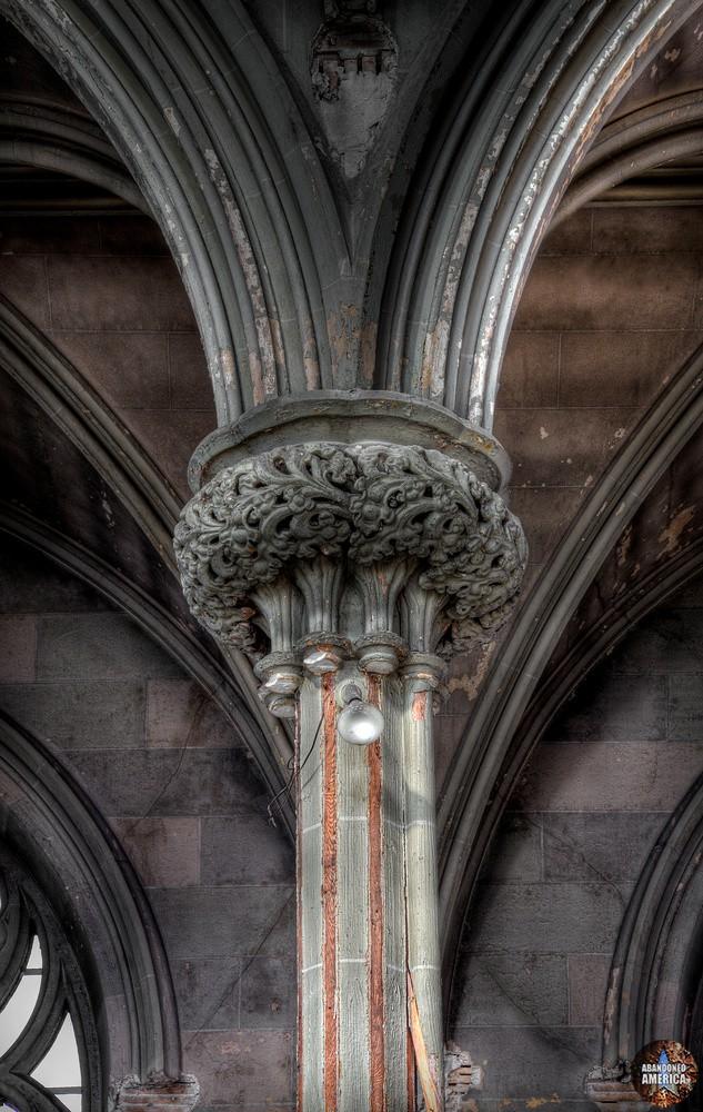 Assumption BVM Church (Philadelphia, PA) | Column Detail - Assumption of the Blessed Virgin Mary