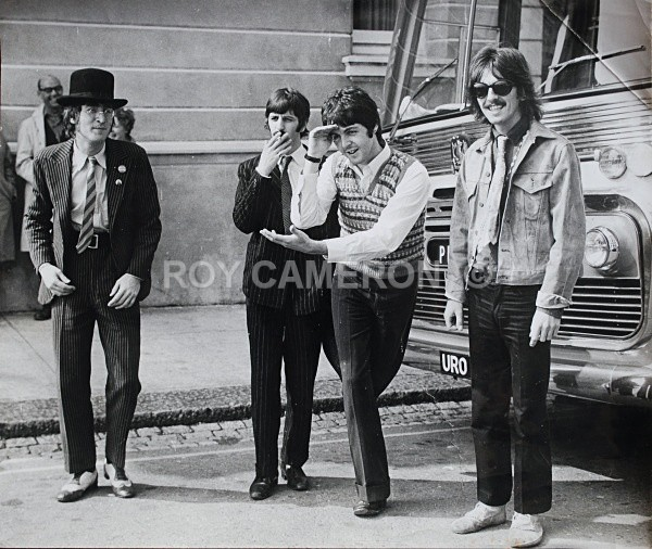 Beatles by bus - Rare Beatles pics.