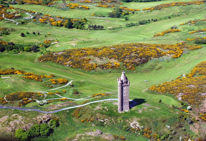 Above Scrabo - From Above