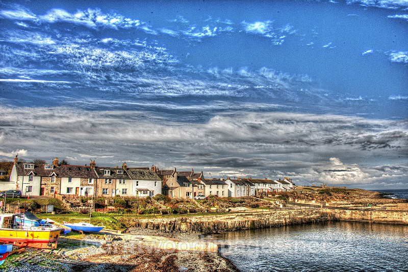 Craster houses 3 HDR reduced - High Dynamic Range pictures