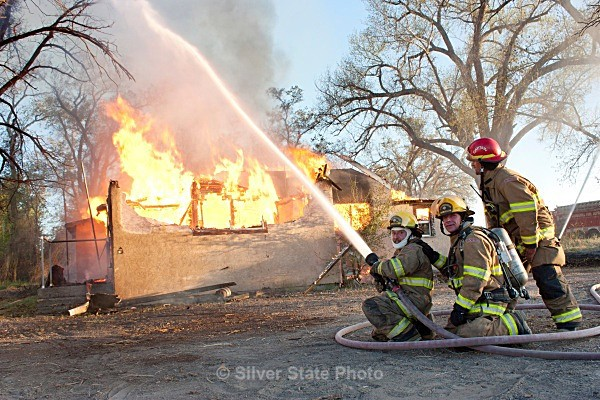 'cooling her down' - Fallon/Churchill Fire Department