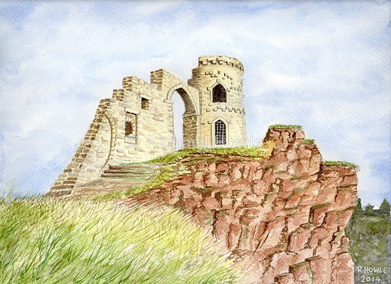 Mow Cop Castle - Watercolour Paintings