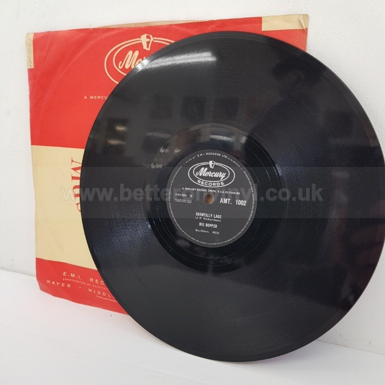 [b]SOLD[/b]  BIG BOPPER, chantilly lace, AMT. 1002, 78 RPM - SINGLES all genres, Including PICTURE DISCS, DIE-CUT, 7
