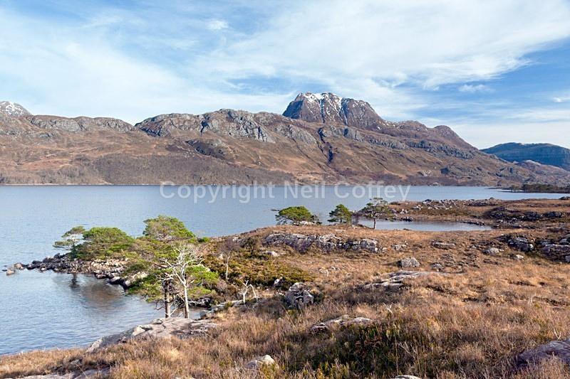 Slioch across Loch Maree, Highland2 - Landscape format