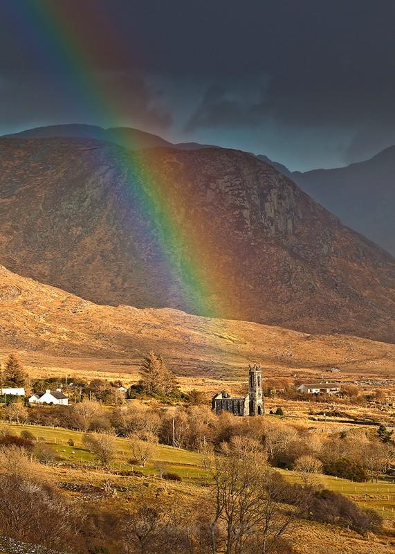 Rainbow on Dunlewy Church - Poison Glen