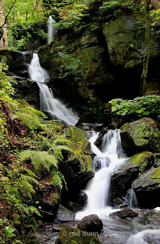 Lumsdale Falls in summer - Peak District