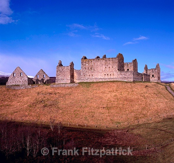 Ruthven barracks, Perthshire. - Highland