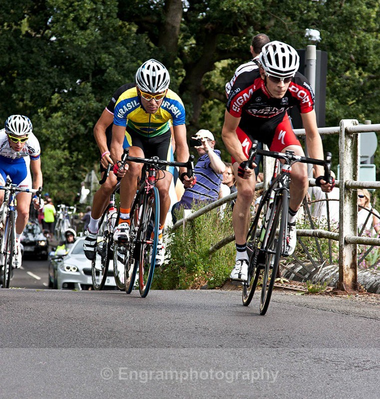 Breakaway group of four-8167 - London Surrey Cycle Event 14th August 2011