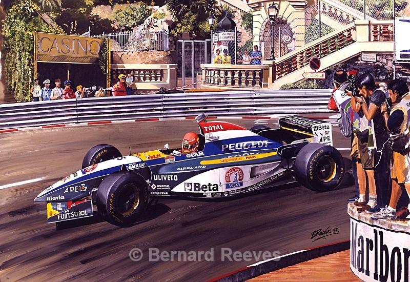 Eddie Irvine at Monaco 1995 - Formula 1 cars and drivers