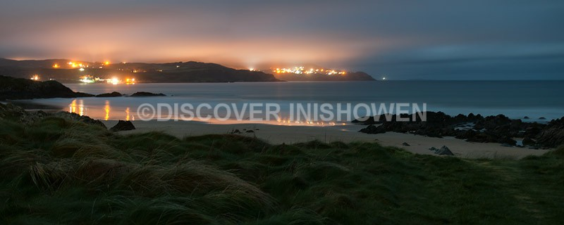 Night at Culdaff Bay - Inishowen-Pano