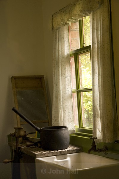 Kitchen Window And Belfast Sink, Co. Clare, Ireland.