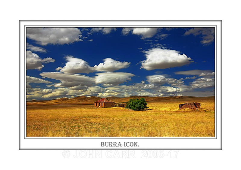 Beautiful Wall Art print  with a Border, showing an abandoned Farm House near Burra, South Australia.