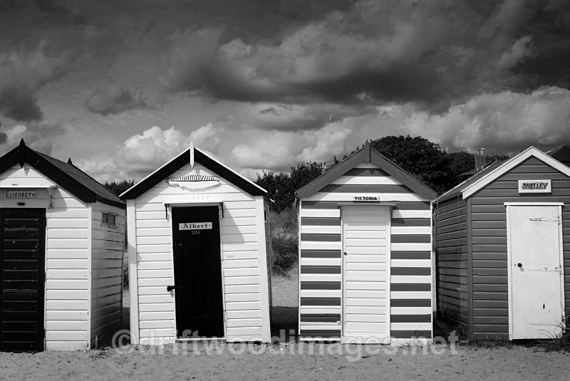 Beach huts at Gun Hill - Southwold Suffolk