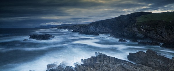 Panoramic Of Atlantic Drive At Dusk, Achill Island, Co. Mayo, Ireland.
