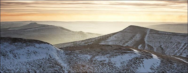 lose hill to win - Peak District Winter