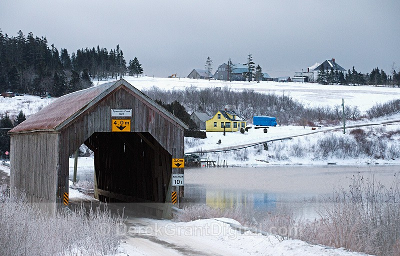 Tynemouth Creek Covered Bridge New Brunswick Canada - Covered Bridges of New Brunswick
