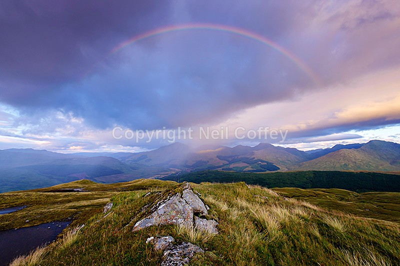 The Crianlarich Hills from Fiarach, Stirlingshire - Landscape format