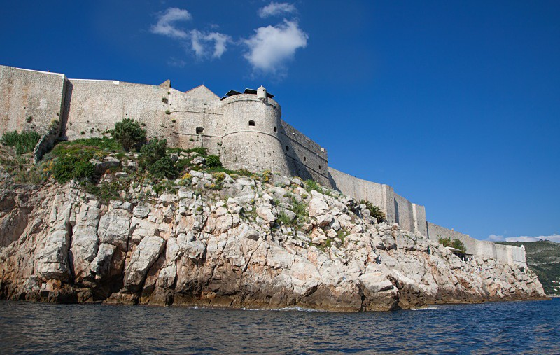 Sea View of City Walls, Dubrovnik - Croatia Road Trip 2017