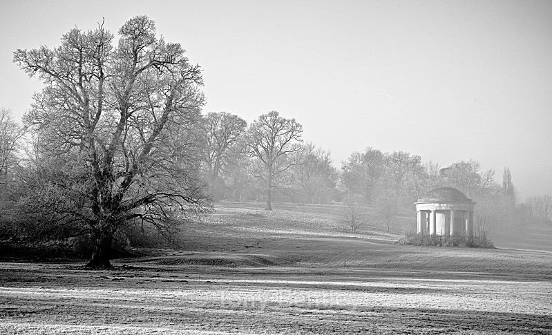 Mote Park in the Mist - Monochrome