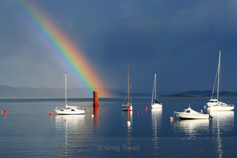 Rainbow on the Lough - Killyleagh and Delamont
