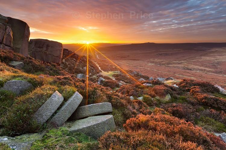 Peak District Millstones at Sunset | Burbage Edge Derbyshire