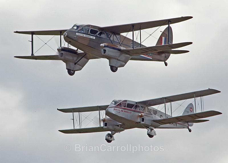 IMG_7985 De Havilland Dragon Rapides - RAF Duxford 2009 - 2014 Air Shows