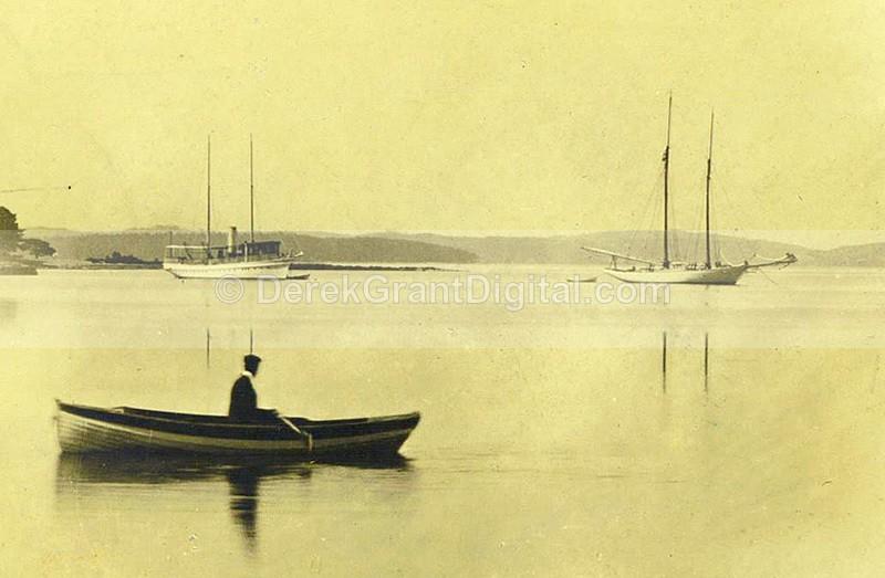 Boats @ Rothesay Yacht Club NB Canada Albumen - Historic New Brunswick