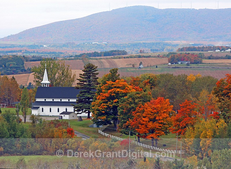 Johnville New Brunswick Canada Autumn Foliage - New Brunswick Landscape