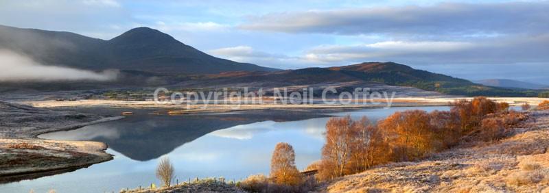 Loch Achanalt, Strathconon Forest, Highland - Panoramic format