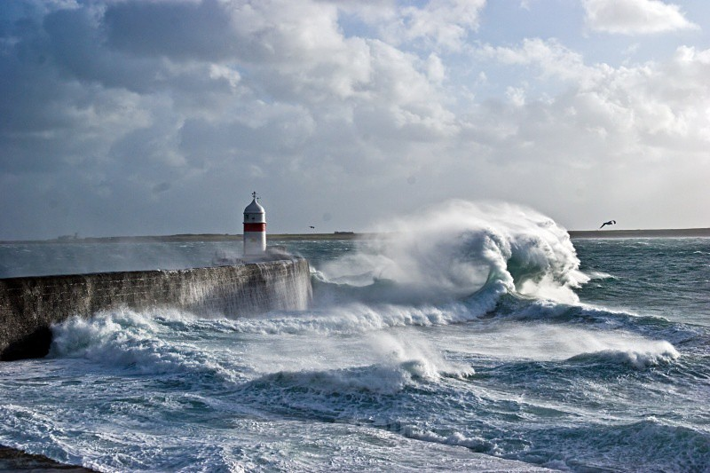 Castletown breakwater - Sea of Man