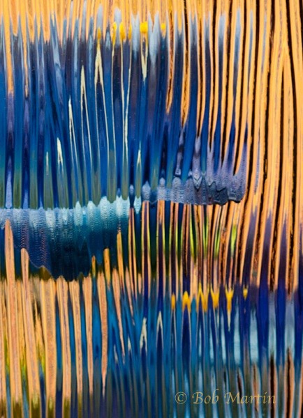Blue and Yellow Behind Glass - Landscapes & Things of Interest